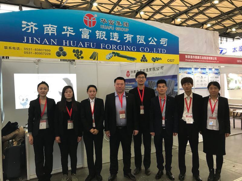 Sales department attends the exhibition